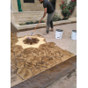 Coloured - stamped concrete